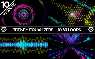 Trendy Equalizers VJ Loops Pack