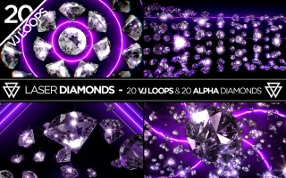 Laser Diamonds VJ Loops