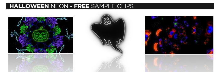 Halloween Neon VJ Loops free sample