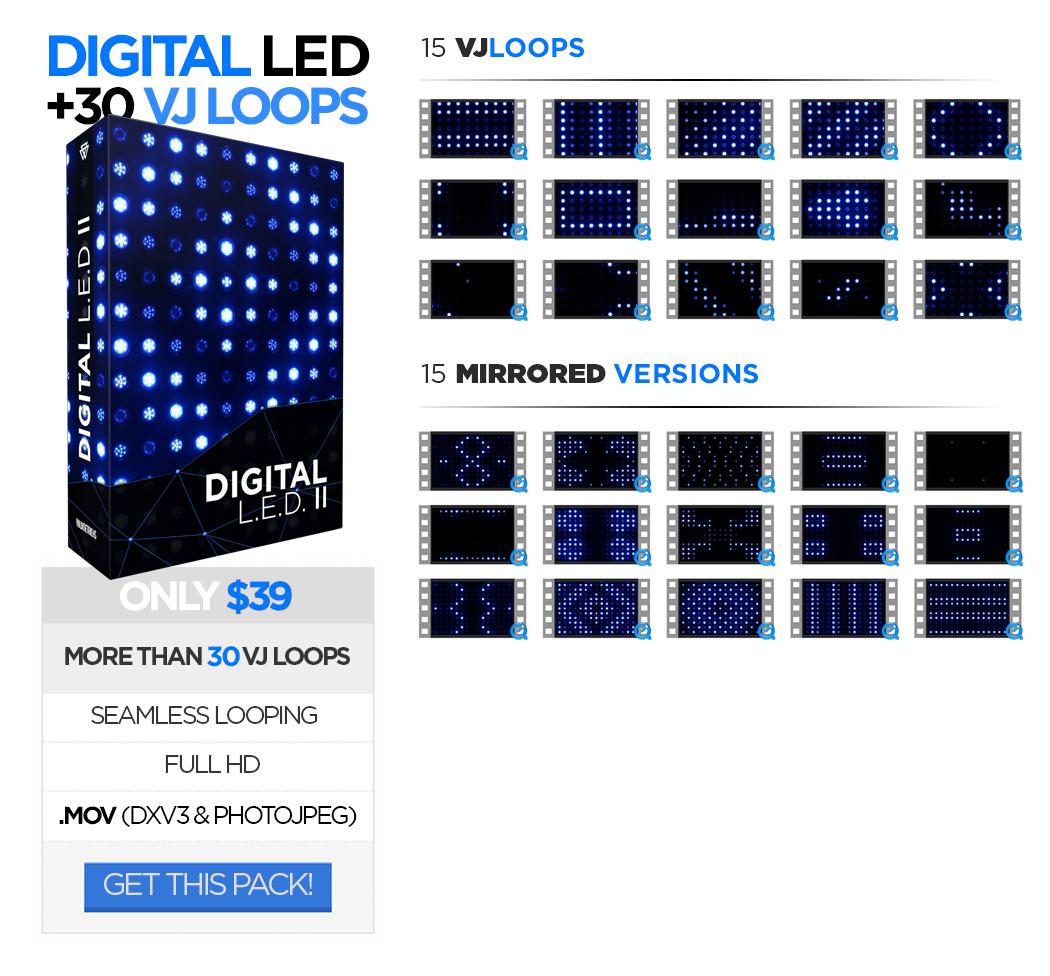 Digital LED II – 30 VJ Loops | Volumetricks