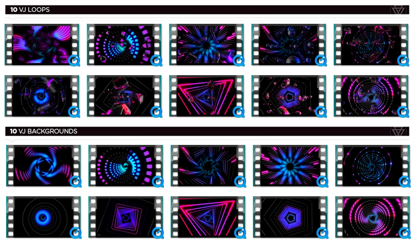 Ultra Tunnels VJ Loops Thumbnails