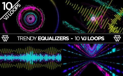 Trendy Equalizers VJ Loops Pack
