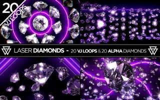 Laser Diamonds VJ Loops