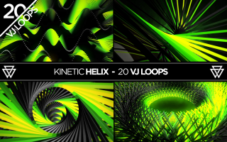 Shop image Preview for the Kinetic Helix VJ Loops Pack